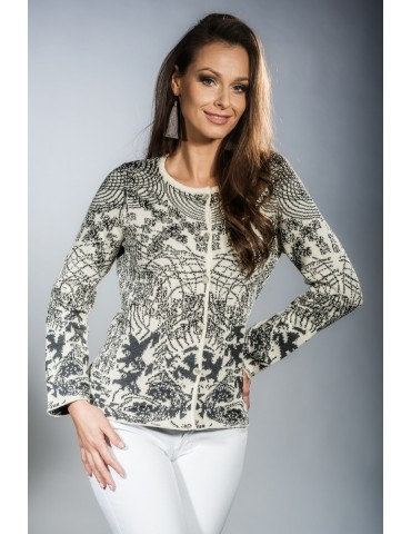 Jacquard knitted  jacket in...